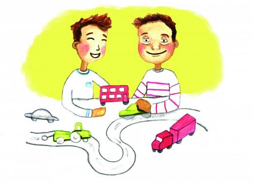 Brothers PlayingAn illustration for a project at Warwick University